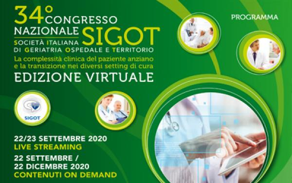 SAVE THE DATE 22 Settembre -  Virtual Edition del 34° Congresso Nazionale SIGOT!!!!